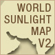 World Sunlight Map Version 2 - ActiveDen Item for Sale