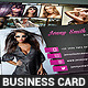 Fashion Model Actress Business Card Template - GraphicRiver Item for Sale