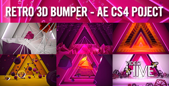 After Effects Project - VideoHive Retro 3D bumper 500679