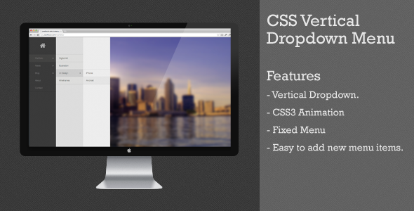 Css vertical dropdown menu free download for Html vertical menu bar template