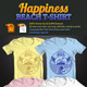 Happiness Beach T-Shirt - GraphicRiver Item for Sale