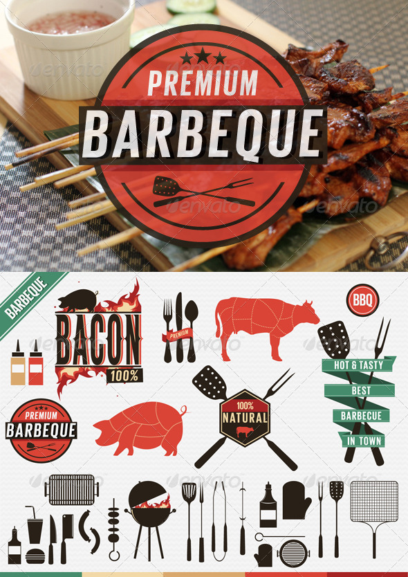 bbq sauce label template - barbecue poster psd template