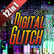 Digital Glitch Transitions (12-in-1) - VideoHive Item for Sale