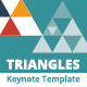 Triangles Business Keynote Template - GraphicRiver Item for Sale