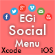 EGi Social Menu - Fantastic Social Menu for iPhone - CodeCanyon Item for Sale