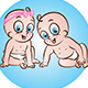 Happy Baby Boy and Girl - GraphicRiver Item for Sale