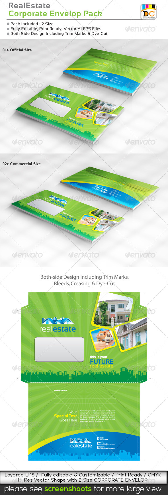 GraphicRiver Real Estate Official Envelop Pack 4862967