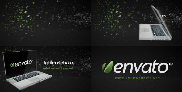 After Effects Project - VideoHive 3D Laptop logo Reveler 244195