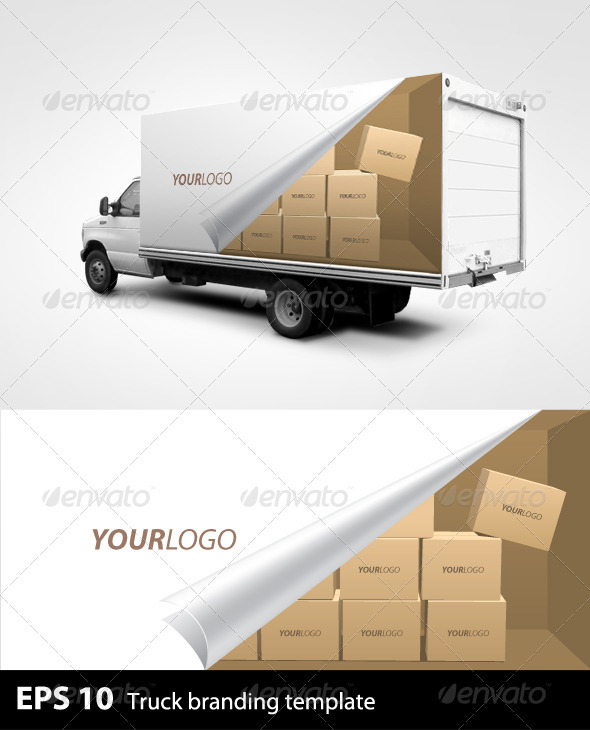 Graphic River Truck Branding Template Print Templates -  Miscellaneous 503411