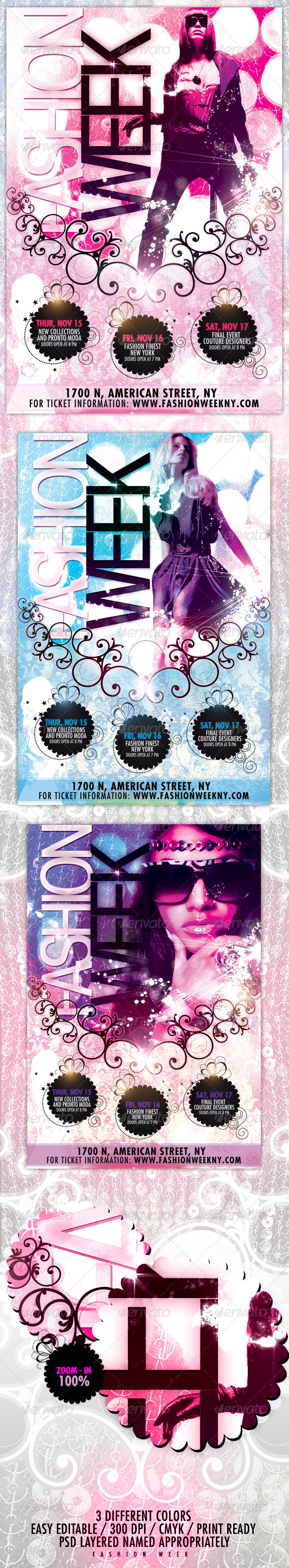 Graphic River Fashion Week Flyer Print Templates -  Flyers  Events  Other 504105