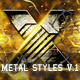 X Metal Styles V.1 - GraphicRiver Item for Sale