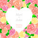 Pink Wedding Invitation with Heart of Roses - GraphicRiver Item for Sale