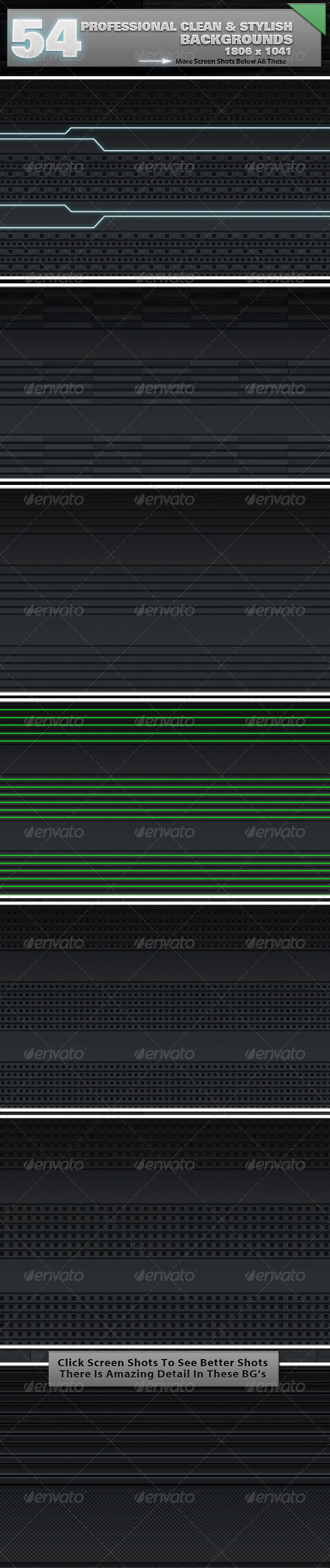 Graphic River 54 Premium Clean Backgrounds Bundle Graphics -  Backgrounds 504392