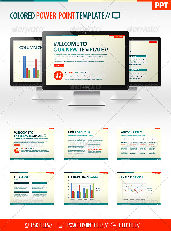GraphicRiver Colorful Powerpoint Template 504465