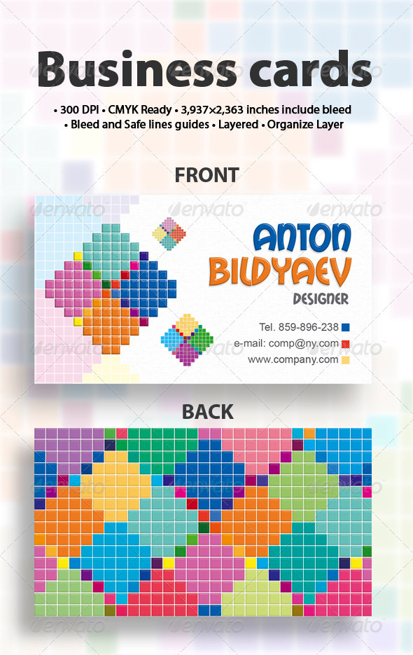 Graphic River Mosaic Print Templates -  Business Cards  Creative 506144