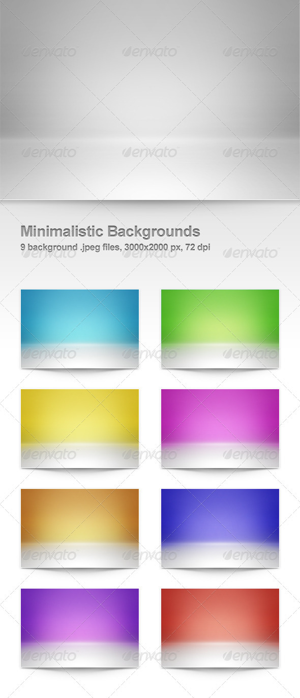 GraphicRiver 9 Minimalistic Backgrounds 507085