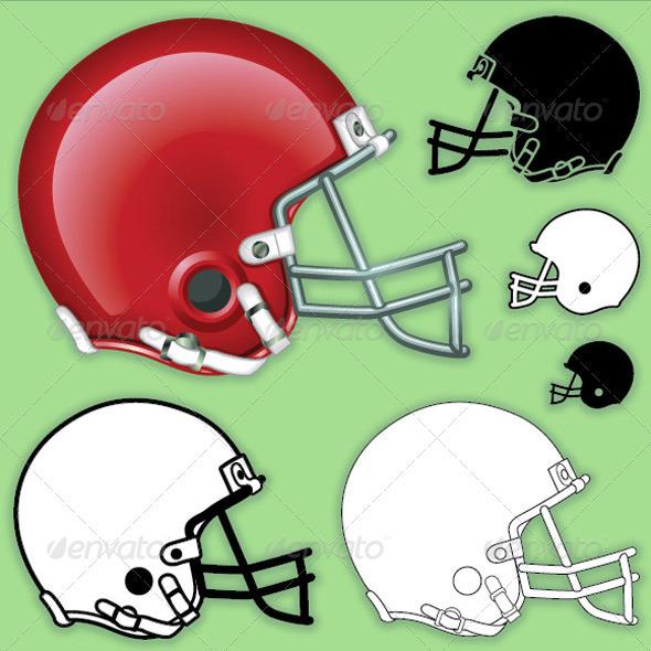 GraphicRiver American Football Helmet Side 507346