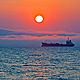 Evening Sun and Ship