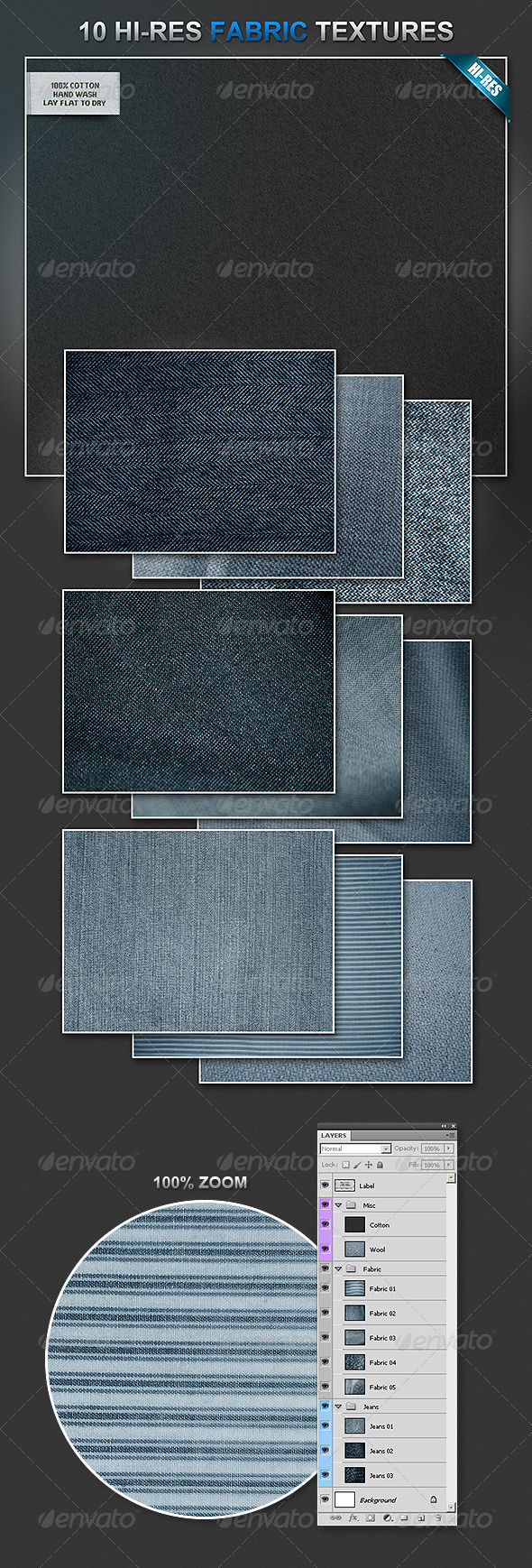 Graphic River 10 Fabric Materials Graphics -  Backgrounds 507447