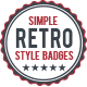 Simple Retro Badges v1 - GraphicRiver Item for Sale