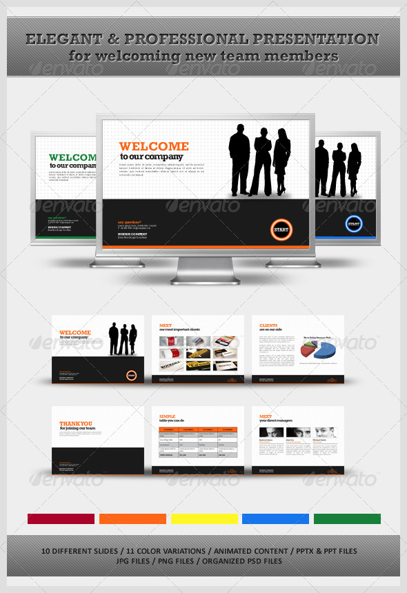 Graphic River Welcome Your New Team Members Powerpoint Presentation Templates -  Powerpoint Templates 510789