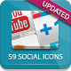 54 Social Media Icons - Elegant Edition - GraphicRiver Item for Sale