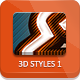 3D Photoshop Styles - Part 1 - GraphicRiver Item for Sale