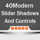 40 Modern Slider Shadows And Controls - GraphicRiver Item for Sale