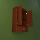 Realistic Wooden Wall Cabinet - 3DOcean Item for Sale