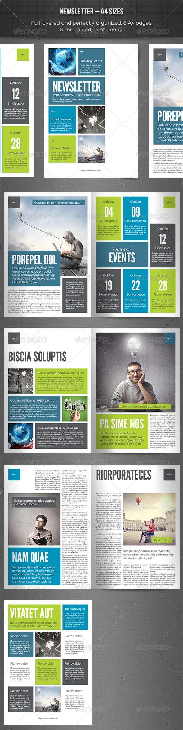 preview  Page Newsletter Template Indesign on indesign layout templates, create your own newsletter templates, yearbook page layout templates, print newsletter templates,