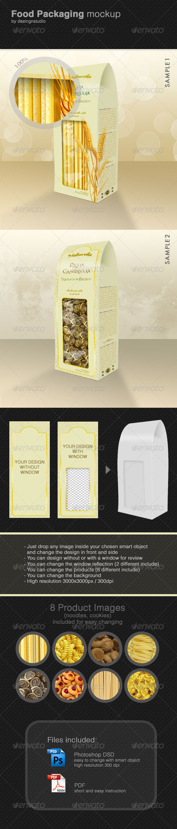 GraphicRiver Food Packaging Mock-Up 514737