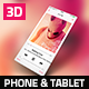 3D Phone & Tablet Mock-Ups - GraphicRiver Item for Sale