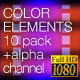 Color Background Elements 01 - 10pack - VideoHive Item for Sale