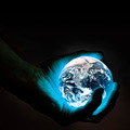 The world is in your hand (blue) - PhotoDune Item for Sale