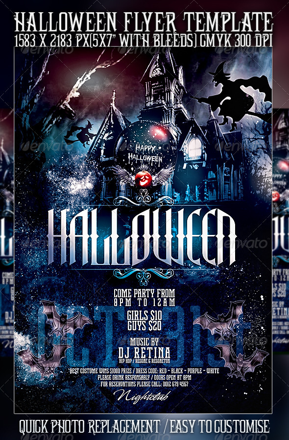 GraphicRiver Halloween Flyer Template 516226