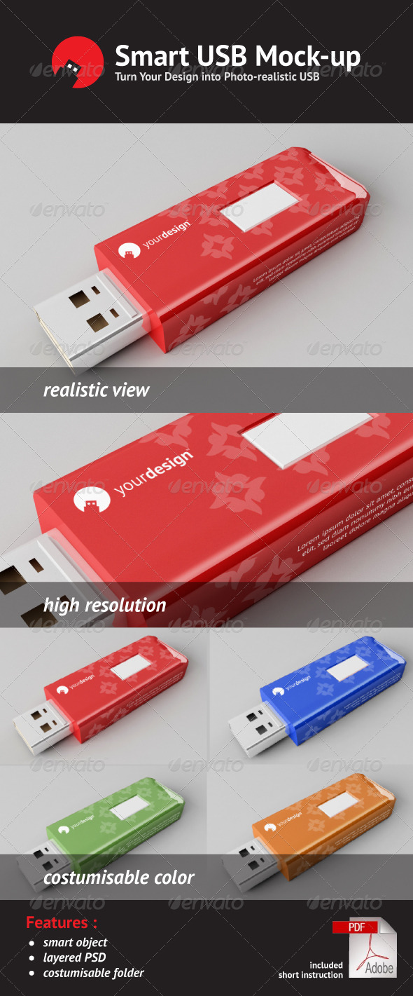 Graphic River Usb Flash Disk Mock Up Graphics -  Product Mock-Ups  Technology 516575