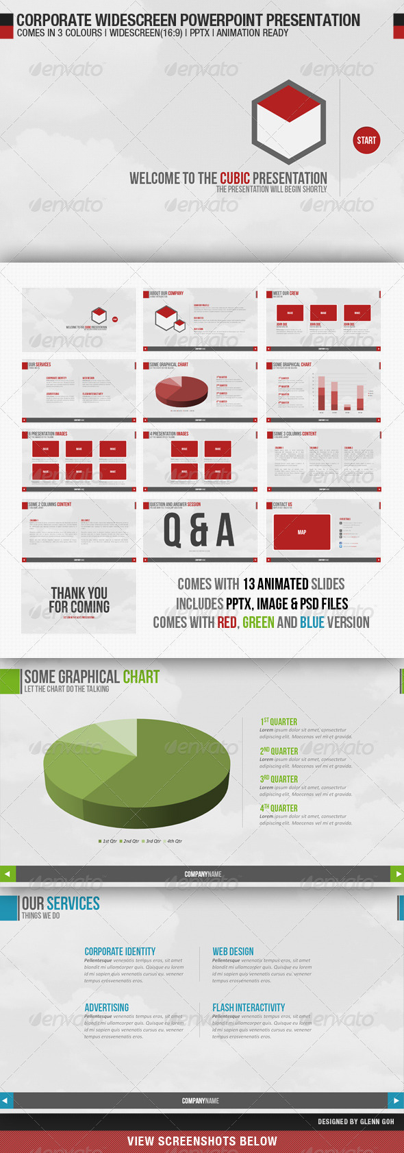 Graphic River Corporate Widescreen Powerpoint Presentation Presentation Templates -  Powerpoint Templates  Creative 513155