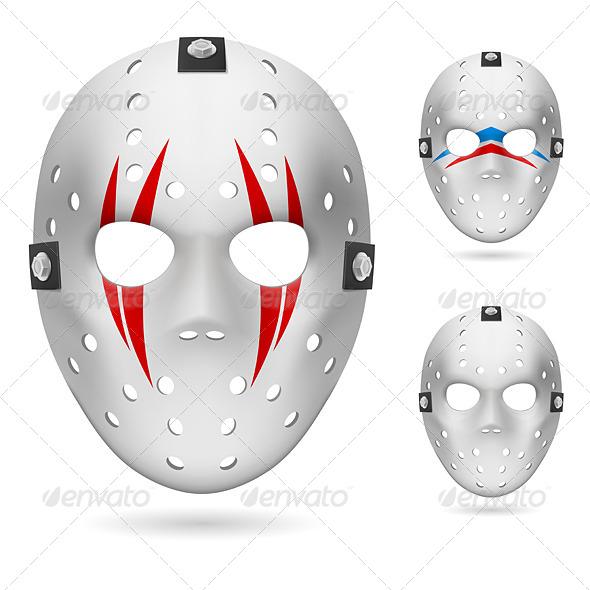 stock vector graphicriver hockey mask 5013014. Black Bedroom Furniture Sets. Home Design Ideas