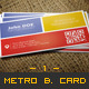 Metro Business Card - 01 - GraphicRiver Item for Sale