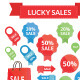 lucky sales set  - GraphicRiver Item for Sale