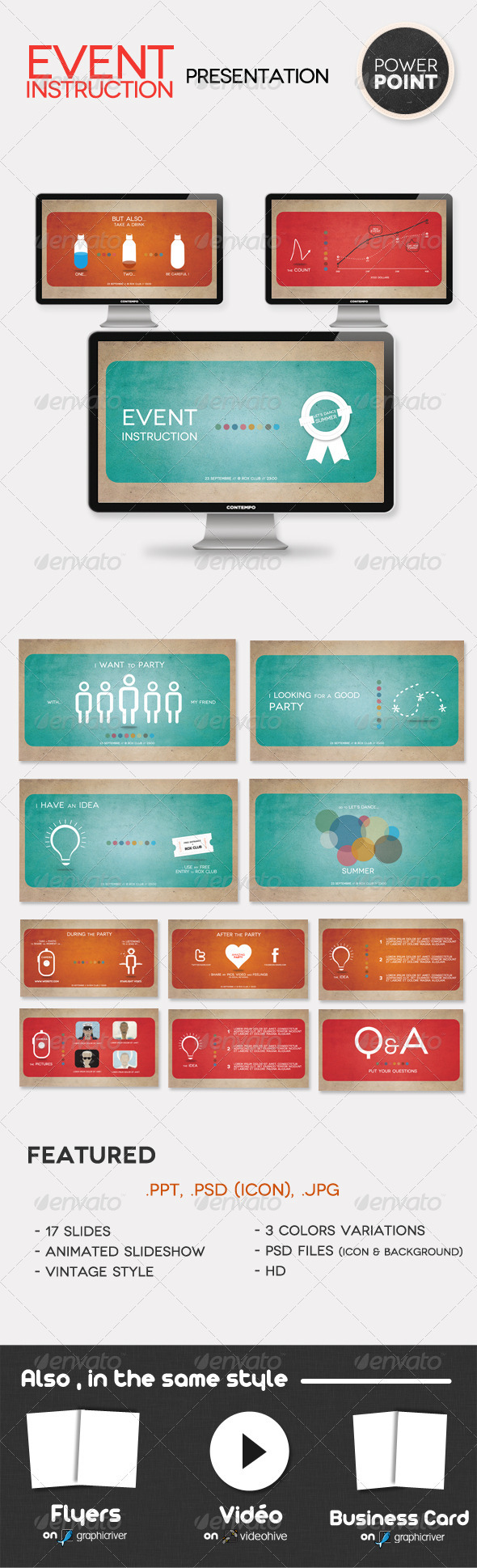 GraphicRiver Event Instruction Presentation PowerPoint 519428