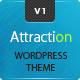 Attraction Responsive Wordpress Landing Page - ThemeForest Item for Sale