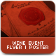 Wine Event Flyer or Poster Template - GraphicRiver Item for Sale