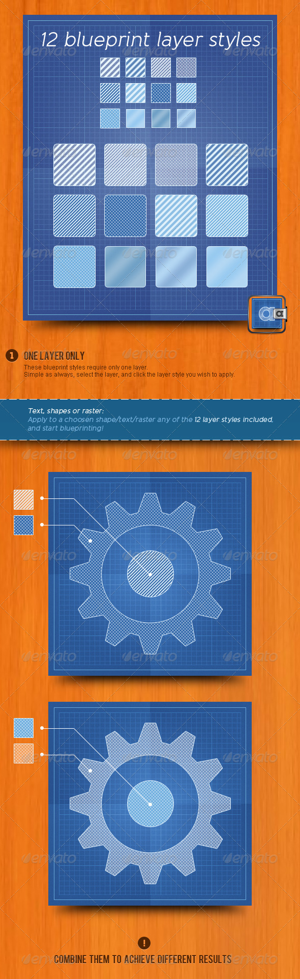 GraphicRiver Blueprint Layer Styles 519723
