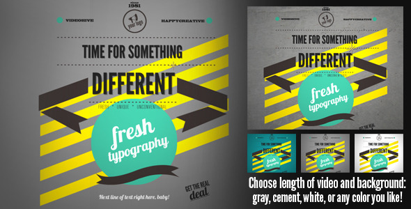 After Effects Project - VideoHive Fresh Typography 520064