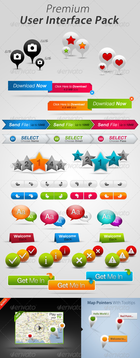 GraphicRiver Premium User Interface Pack 520713