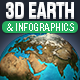 3D Photoshop Earth & InfoGraphics Set - GraphicRiver Item for Sale