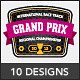 Racing Emblems - GraphicRiver Item for Sale