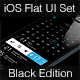 iOS Flat UI Set Black Edition Vol. 2 - GraphicRiver Item for Sale