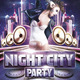 Night City Party Flyer Template - GraphicRiver Item for Sale